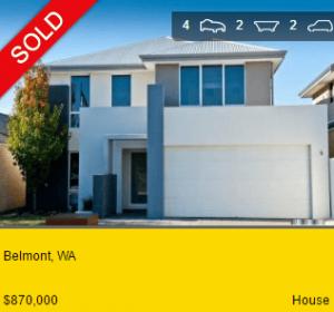 Property valuation Belmont WA