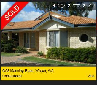 Real estate appraisal Wilson WA 6107