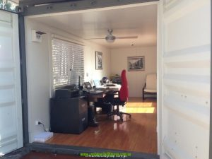 Shipping container home office studio